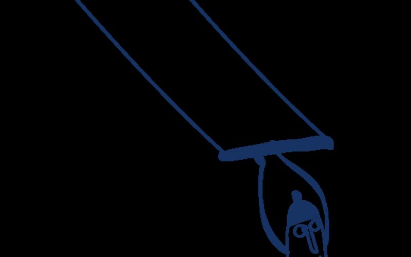 Petit bonhomme sur un trapèze