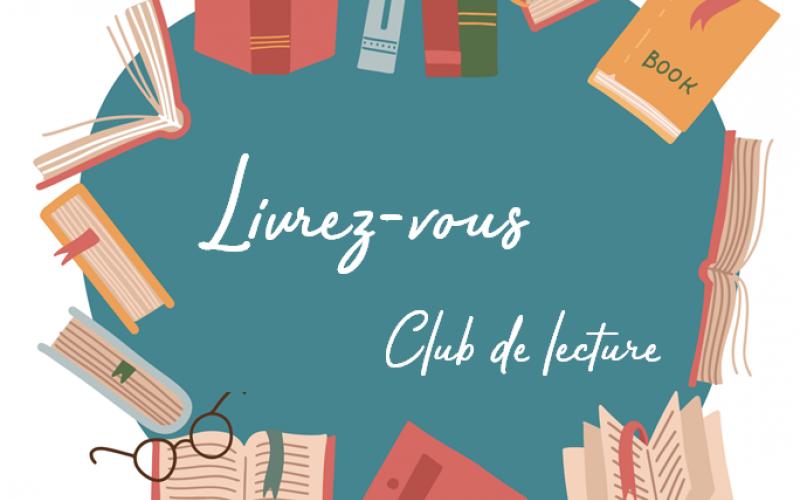 Logo Club de Lecture : livres sur fond vert