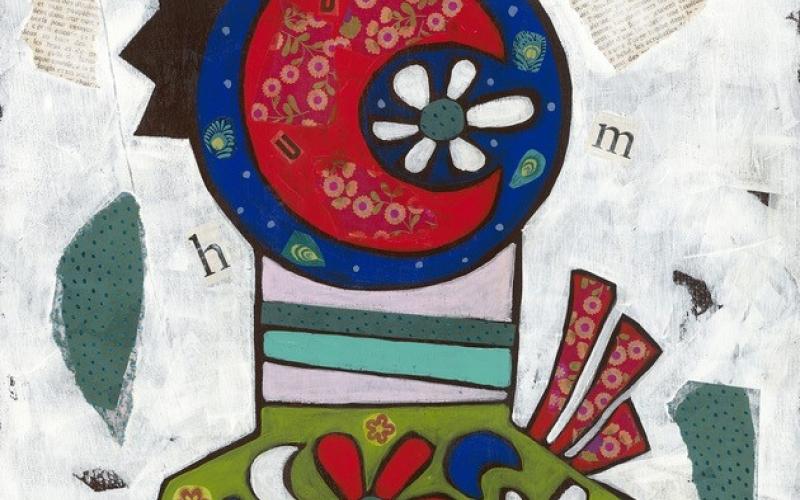 Tableau de l'exposition de Maud Fréjaville-Simon.